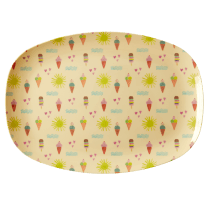 Rice Rectangular Melamine Plate - Summer Print