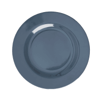 Rice Round Melamine Lunch Plate - Dark Grey