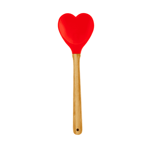 Rice Silicone Kitchen Spoon - Red
