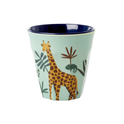 Rice Small Blue Kids Cup with Jungle Print