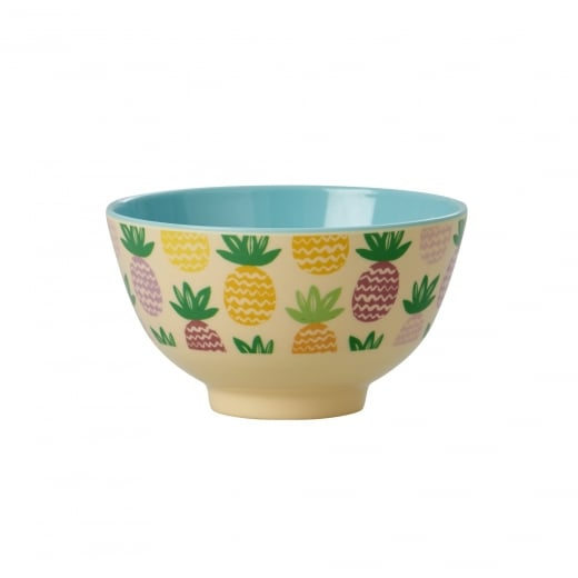 Rice Small Melamine Bowl With Pineapple Print