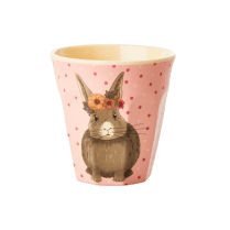 Rice Small Pink Kids Cup with Animals Print