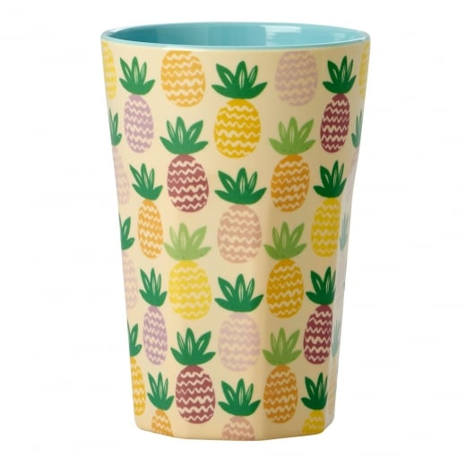 Rice Tall Melamine Cup With Pineapple Print