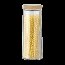 Rosendahl Extra Large Grand Cru Storage Jar with Oak Lid - Clear