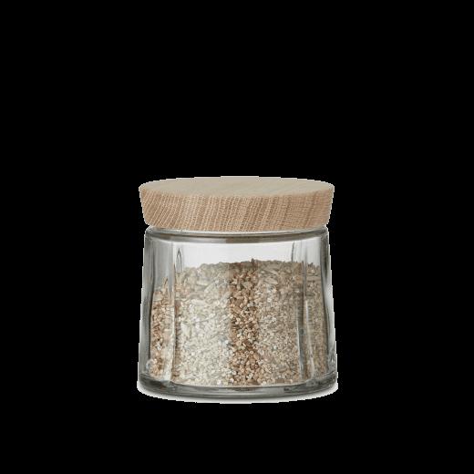Rosendahl Extra Small Grand Cru Storage Jar with Oak Lid - Clear