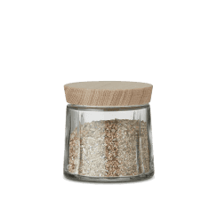 Rosendahl Extra Small Grand Cru Storage Jar with Oak Lid - Clear
