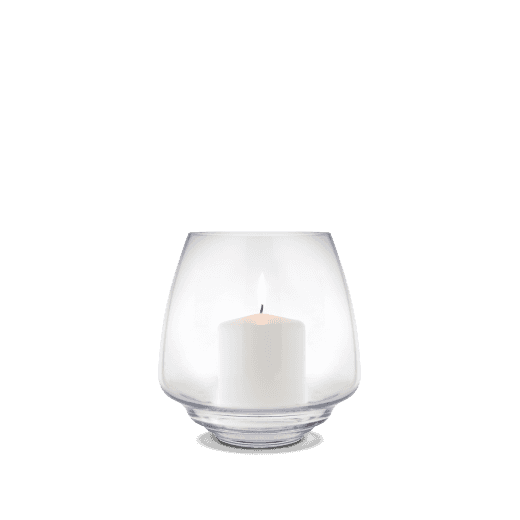 Rosendahl Flow Block Candle Holder in Clear Glass
