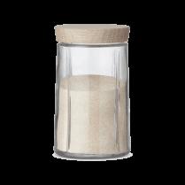 Rosendahl Medium Grand Cru Storage Jar with Oak Lid - Clear