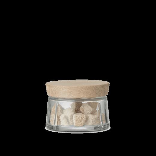Rosendahl Mini Grand Cru Storage Jar with Oak Lid - Clear