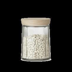 Rosendahl Small Grand Cru Storage Jar with Oak Lid - Clear