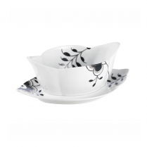 Royal Copenhagen Black Fluted Mega Sauce Bowl