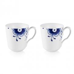 Royal Copenhagen Blue Fluted Mega Mug, 2 Pack