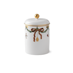 Royal Copenhagen Star Fluted Christmas Jar with Lid