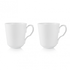 Royal Copenhagen White Fluted Mug, 2 Pack