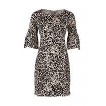 Saint Tropez Animal Print Jersey Dress