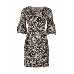 Saint Tropez Animal Print Jersey Dress
