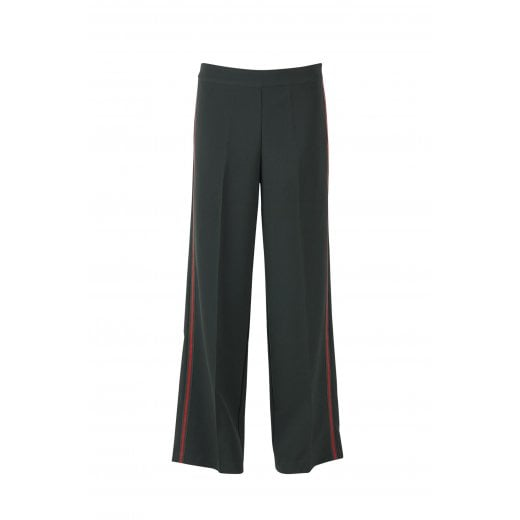 Saint Tropez Classic Trousers with Side Tape Detail - Green