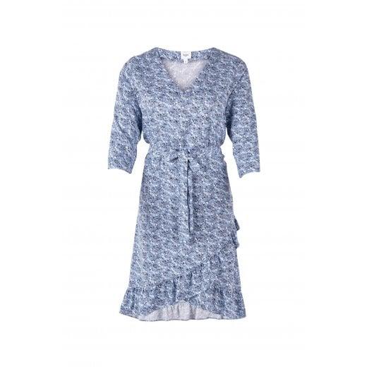 Saint Tropez Floral Print Dress with Ruffle