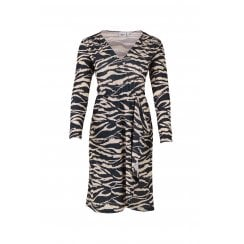 Saint Tropez Jersey Wrap Dress in Tiger Print