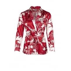 Saint Tropez Kimono in Red Flower Print