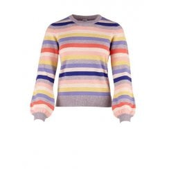 Saint Tropez Multi Striped Knit Jumper