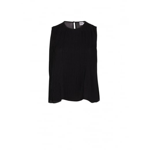 Saint Tropez Plisse Top - Black