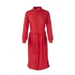 Saint Tropez Shirt Dress - Tomato