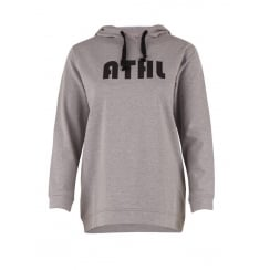Saint Tropez Sweat Hoodie with Text - Grey
