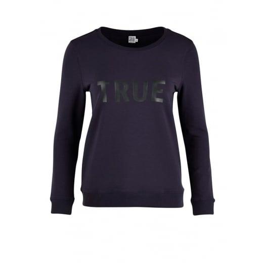 Saint Tropez Sweat Shirt with Text - Blue