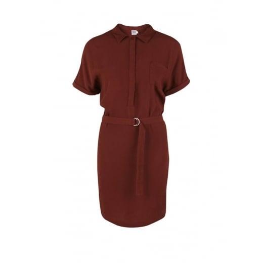 Saint Tropez Woven Shirt Dress - Cherry