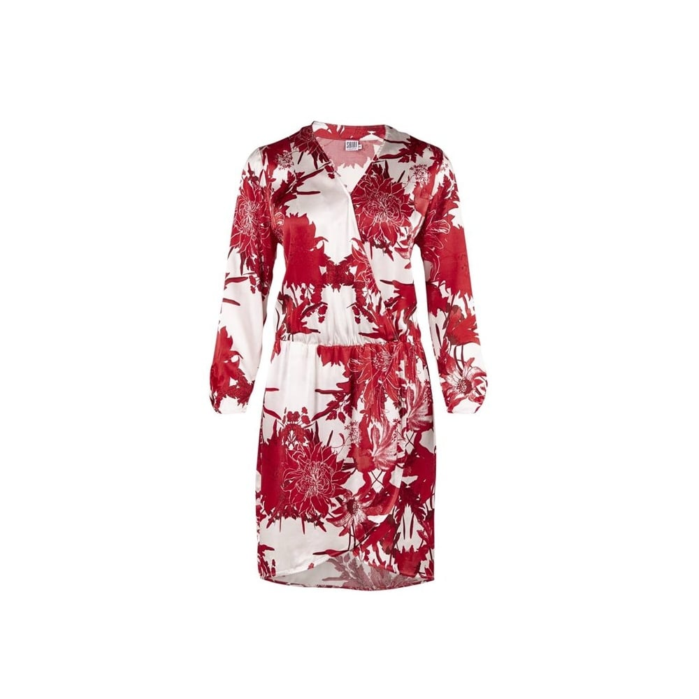 Saint Tropez Wrap Dress in Red Flower Print - Saint Tropez from ...