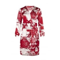 Saint Tropez Wrap Dress in Red Flower Print