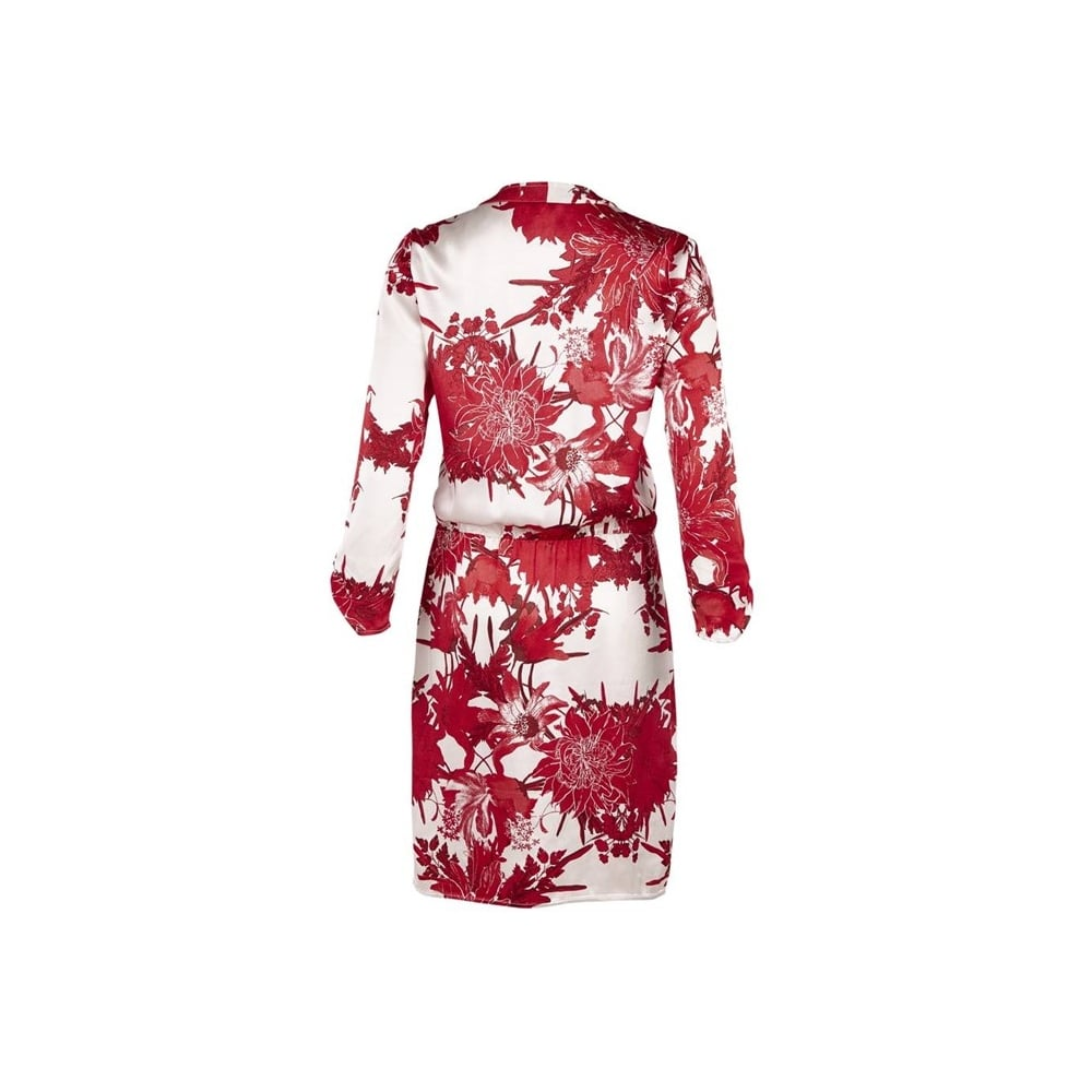 Saint Tropez Wrap Dress in Red Flower Print - Saint Tropez from ...