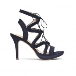 Sargossa Chic Stiletto Sandal - Navy Blue