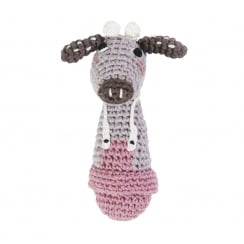 Sebra Crochet Rattle, Cow, Clara