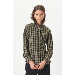 Second Female Osla Shirt - Green Check
