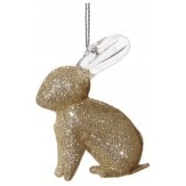 Danish Collection Glitter Covered Glass Rabbit