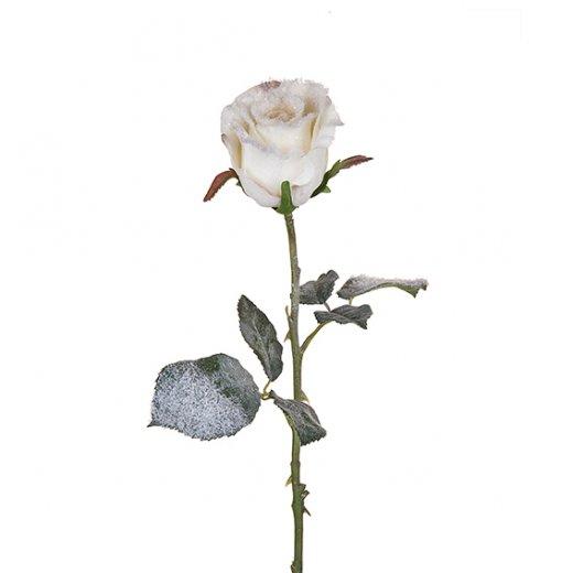 Sia christmas sia rose bud stem with snow h47cm white mightylinksfo