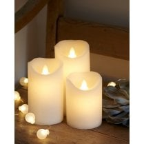 Sirius Sara Exclusive LED Candle - Set/3 Off White