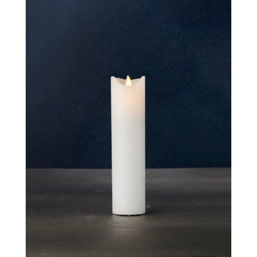 Sirius Thin Sara Exclusive LED Candle - White H20cm / D5cm