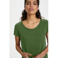 Soaked in Luxury Columbine T-Shirt - Garden Green