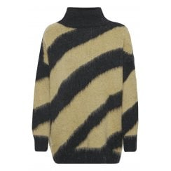Soaked in Luxury Feline Pullover - Lark and Black Stripe
