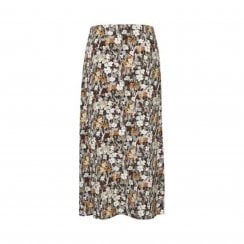 Soaked in Luxury Mori Floral Midi Wrap Skirt