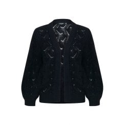 Soaked in Luxury Pointa Cardigan - Navy