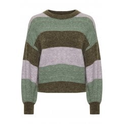 Soaked in Luxury SLAngel Stripe Pullover LS