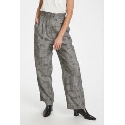 Soaked in Luxury Varvara Black Check Suit Pants