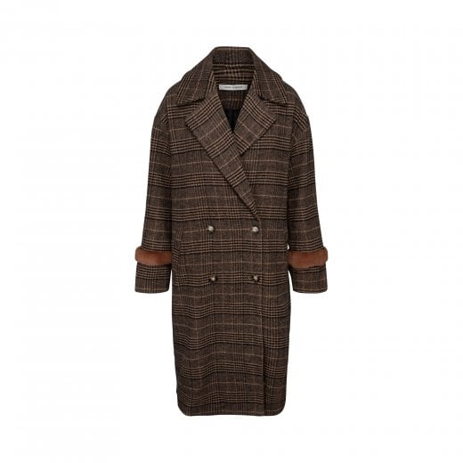 Sofie Schnoor Coat in Brown Check