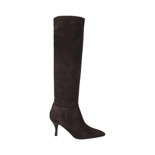 Sofie Schnoor Diana Suede Boot - Dark Brown