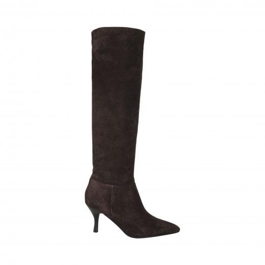 Sofie Schnoor Diana Suede Boot - Dark Brown