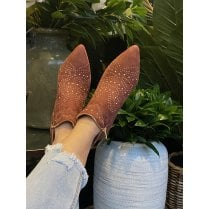 Sofie Schnoor Earth Boots - Suede With Gold Studs